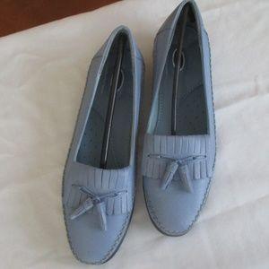 Dr. Scholl's Kiltie Tassel Loafers-Light Blue